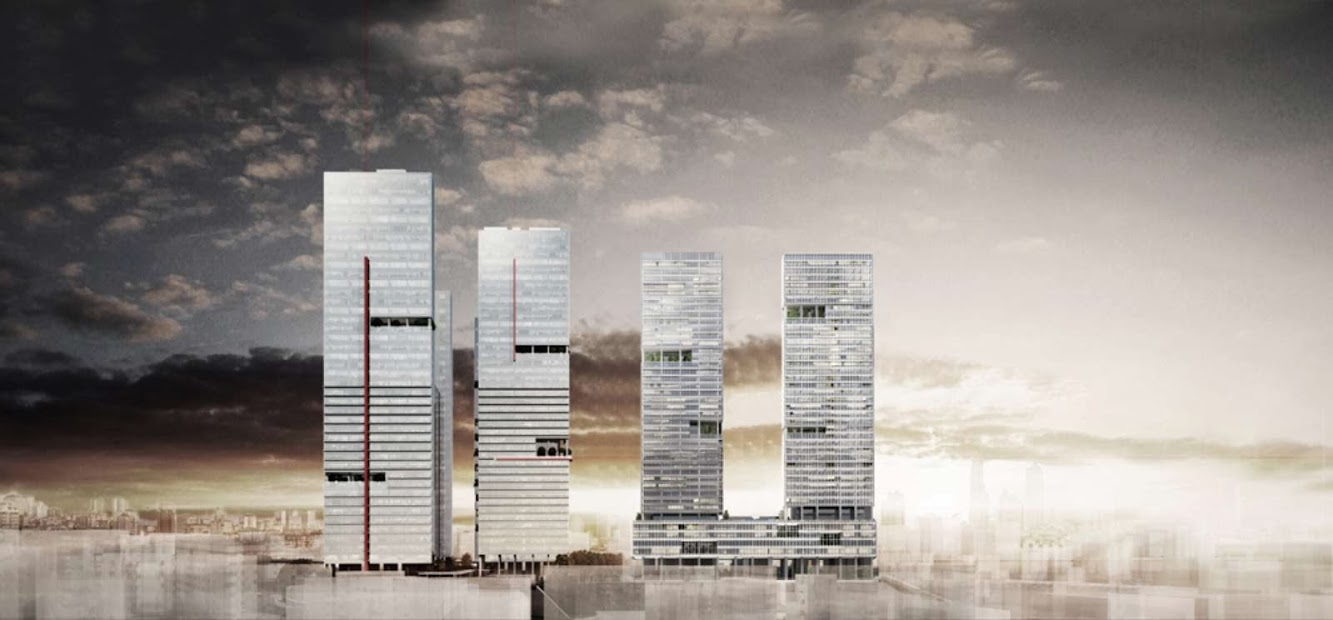 Mecidiyekoy Towers by Emre Arolat Architects