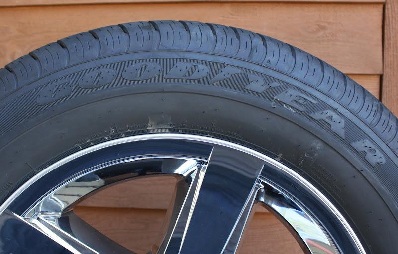"""2013 Dodge RAM 1500 Chrome 20"""" Wheels Goodyear Wrangler 265 70R20 Tires"""