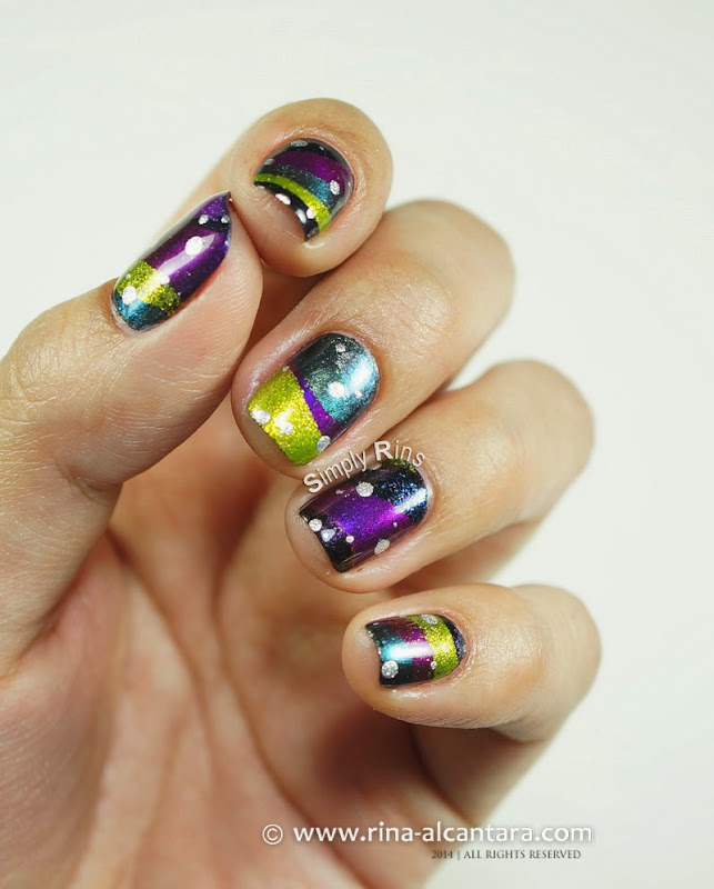 Fantastical New Year Nail Art Design
