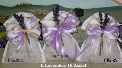Sacchetti in lino per bomboniere Matrimonio alla lavanda  e cerimonie ricamato a mano con orlo a giorno