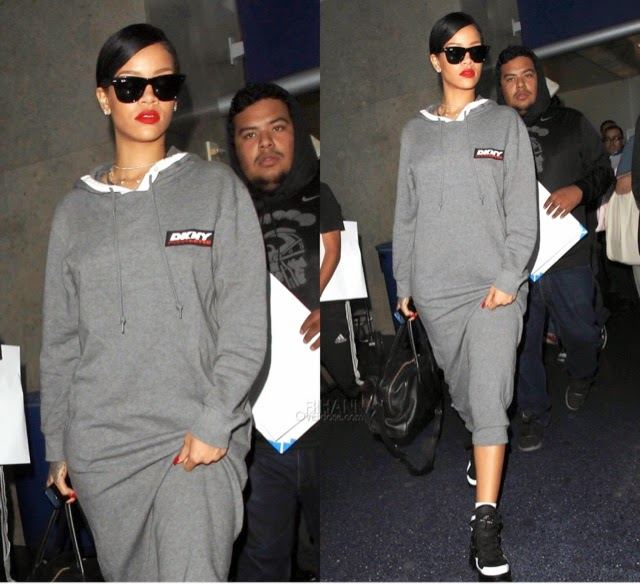 Rihanna in DKNY at LAX
