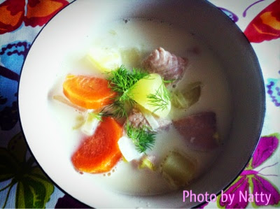 Its just food so try it swedish food series laxsoppa easy recipe salmon salmon soup soup swedish cuisine swedish food forumfinder Image collections