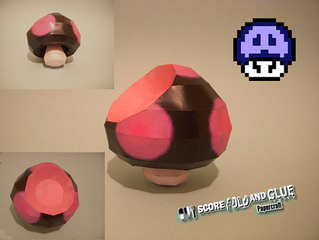 Luigis Mansion Poison Mushroom Papercraft