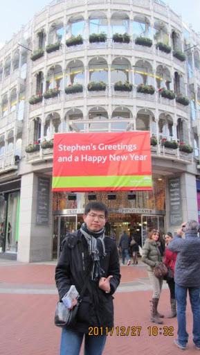 我在都柏林百貨公司前