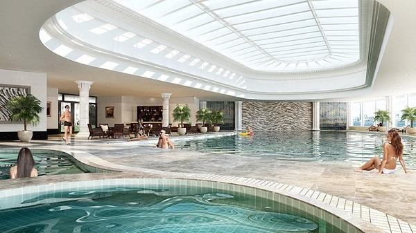bể bơi trong nhà hateco 6 xuân phương