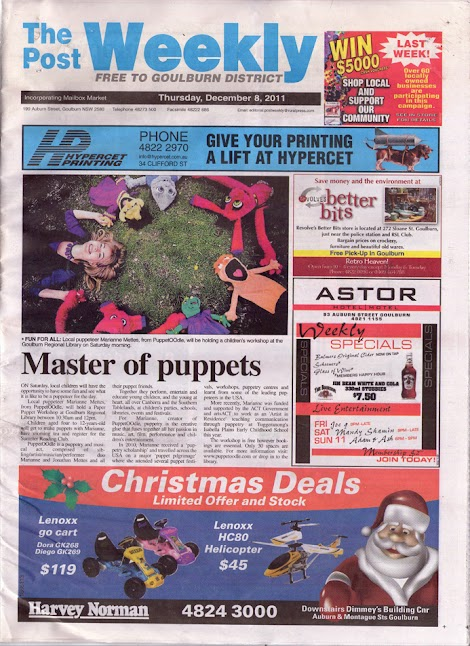 Goulburn Post front page