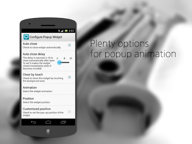 Popup Widget 2 for Android