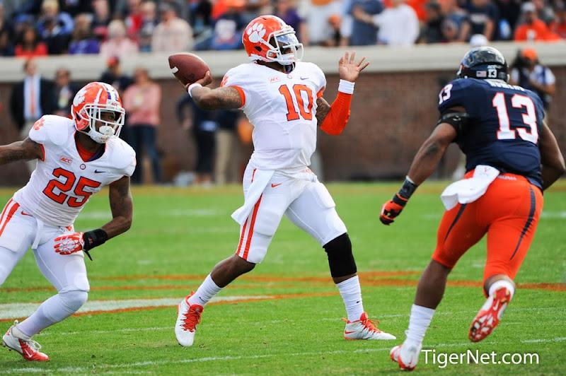 Clemson vs Virginia Photos - 2013, Football, Tajh Boyd, Virginia
