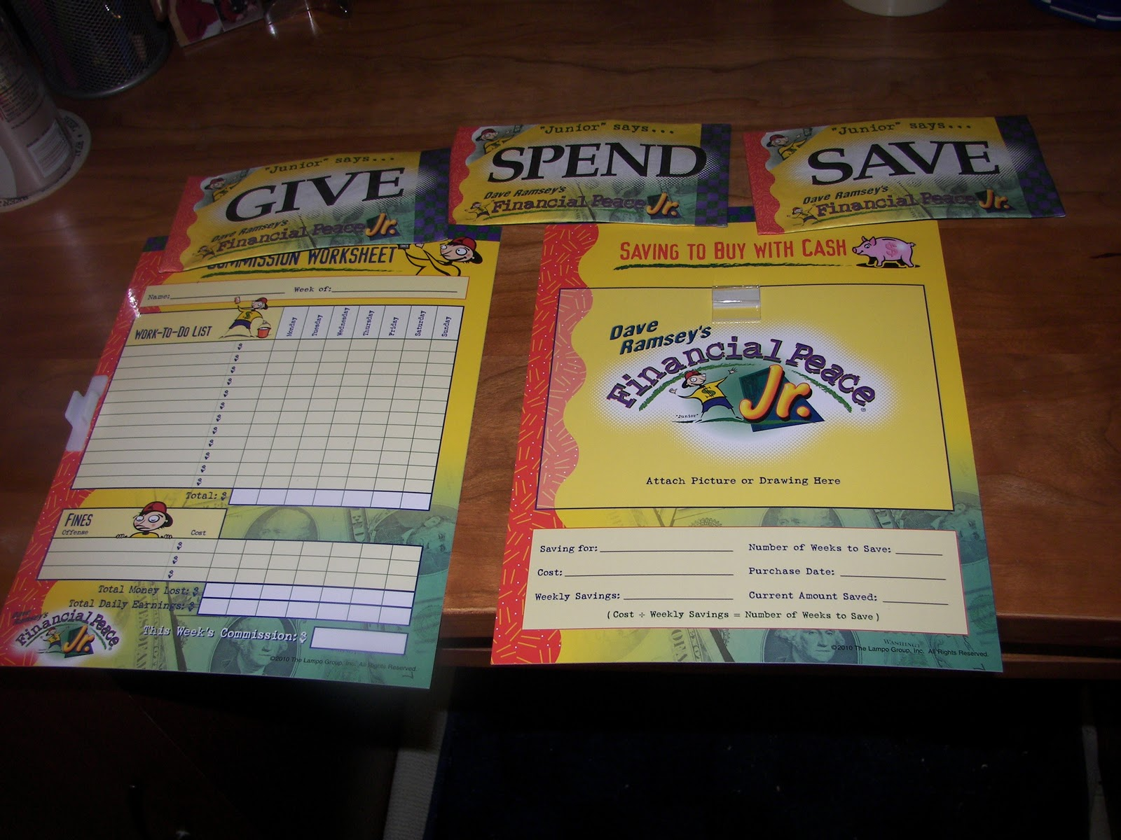 Printables Dave Ramsey Financial Peace Worksheets teaching kids about money a bowl full of lemons both worksheets come with dry erase marker as they are laminated you can see on the cover box it is for 3 12 year old kiddo