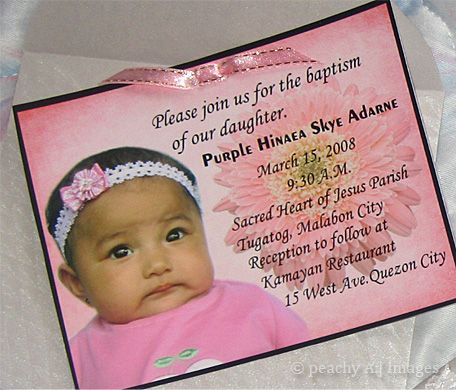 Ykaies invitations mommy peach this is ykaies very first invitation of her baptism invitations i can still remember how excited i am when sis made this stopboris Images