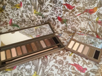 Eyeshadow palettes showing the shadows