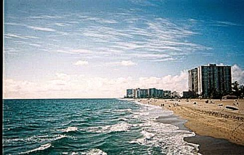 Pompano Beach from the Fishing Pier Looking South   Picture of