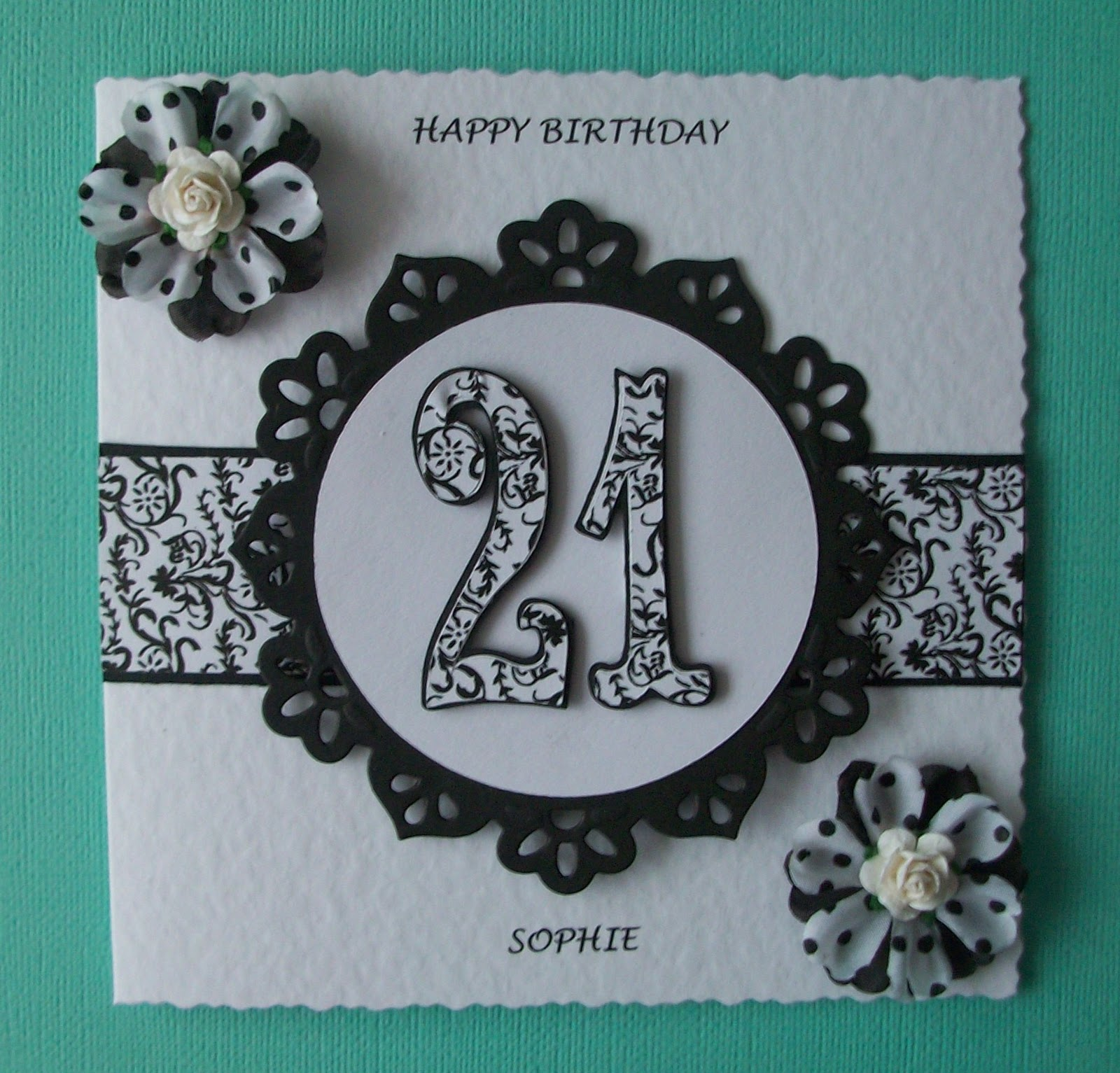 Card Making Ideas 21st Birthday Part - 43: 21st Birthday Card