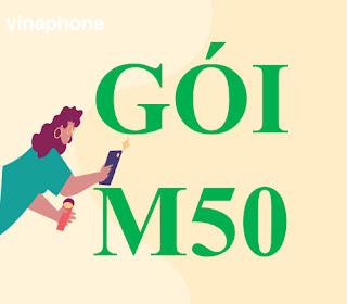 Gói cước M50 Vinaphone với 1,2GB Miễn phí chỉ với 50,000đ/tháng