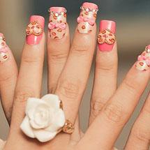 decorando as unhas para o dia dos namorados utilizando a arte 3D