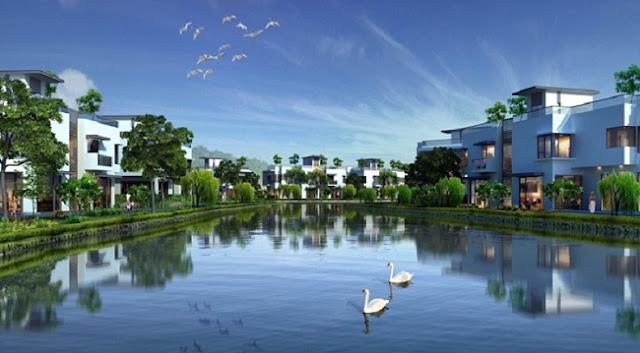 Hồ trung tâm Biệt thự Harbor City Novaland Quận 8