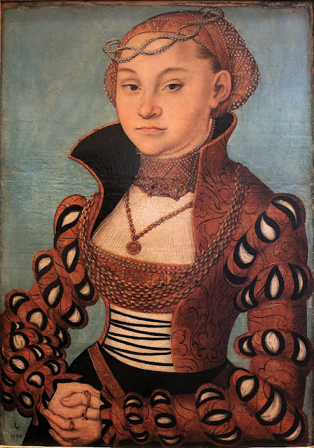 Lucas Cranach the Elder - Portrait of a Saxon Lady