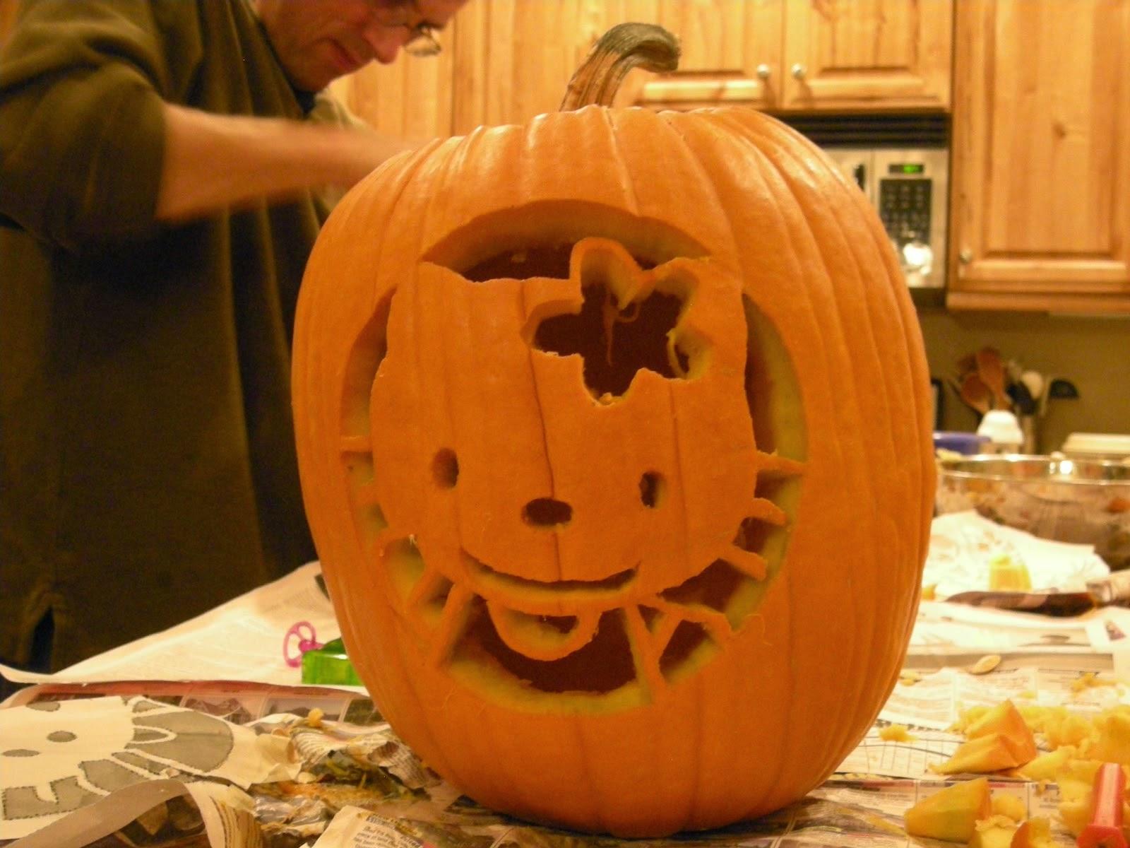 Free Printable Pumpkin Carving Patterns Hello Kitty