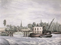 Bridge and toll house, Chaudieres Falls, March 1839