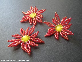 Beaded Poinsettia Tutorials