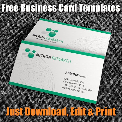 Free business card templates google cheaphphosting Images