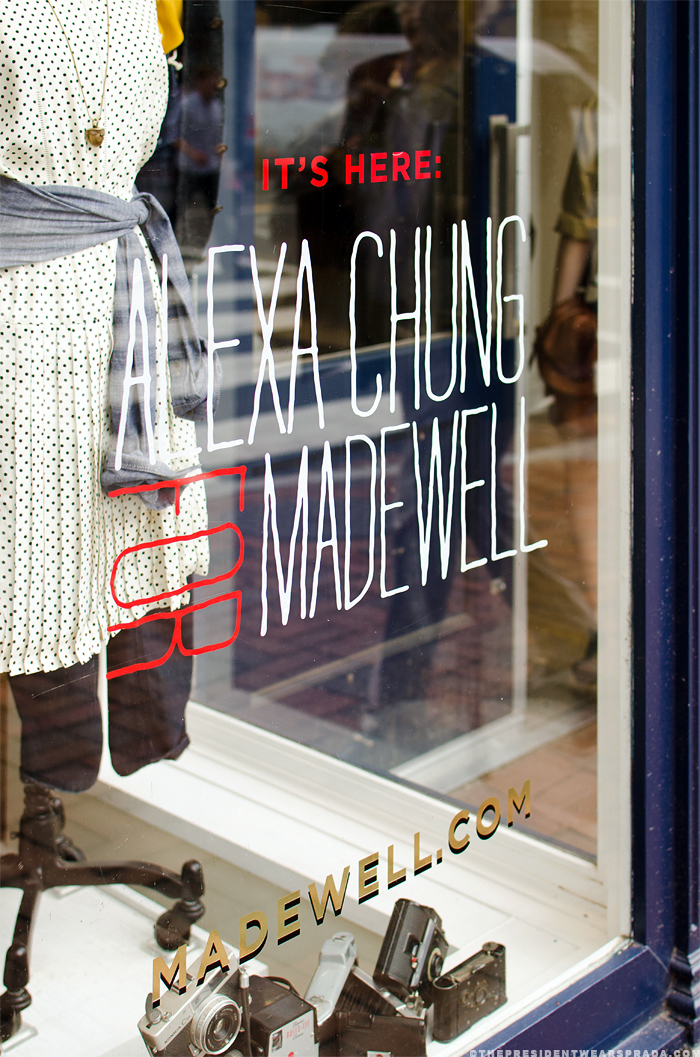 Alexa Chung for Madewell - Georgetown sign