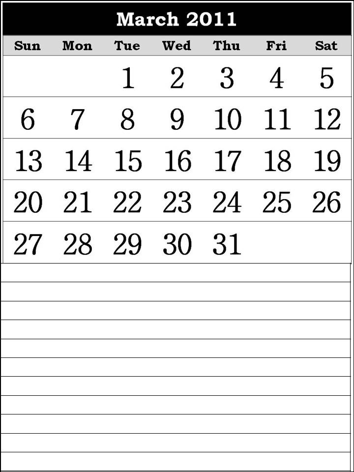 free printable calendars for march 2011. free printable calendars 2011