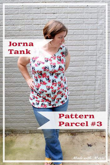 The Jorna Tank from Jenna Brand by Made with Moxie: This is so cute!  What an easy pattern alteration for a nice tank top.