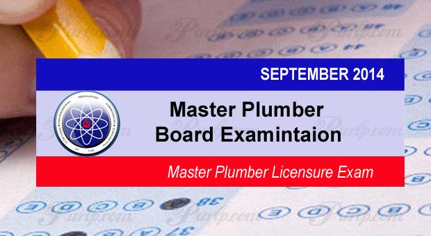 PRC Master Plumber Exam Results September 2014