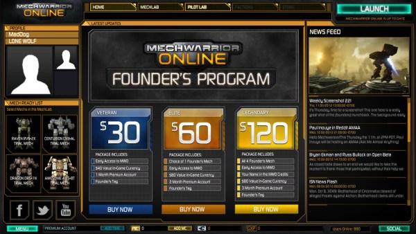 MechWarrior Online Launcher