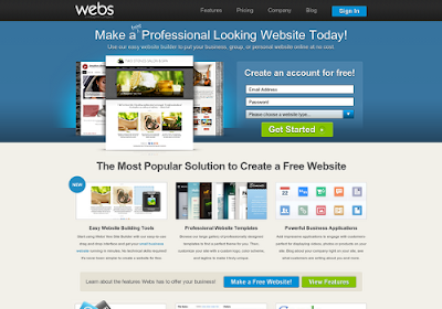 Webs.com free online website builders