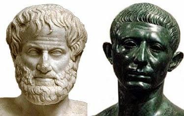 Aristotele e Catone il Censore