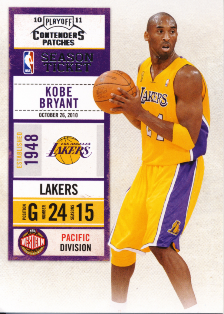 All About Cards: Kobe Bryant moves to number six on the NBA all-time