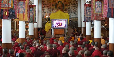 Chanting Buddhism East And West Image