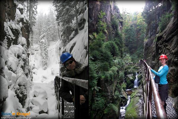 wąwóz kamieńczyka zimą i latem