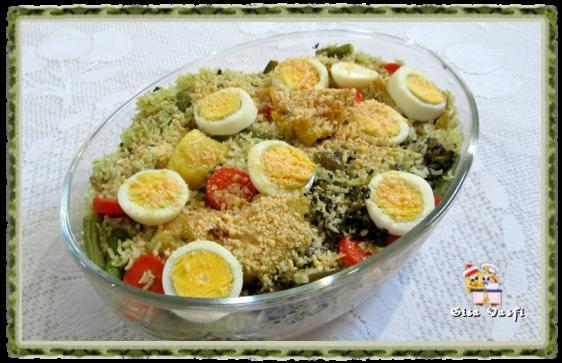 Arroz com bacalhau e legumes 1