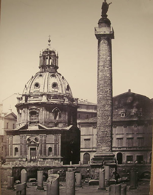 Rome - Trajan's Forum and column, Before 1872, By Robert MacPherson (1811-1872)