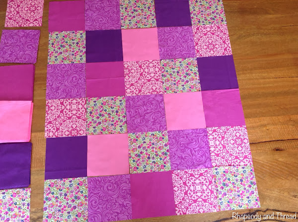 Pink/Purple Bubba Quilt by Rhapsody and Thread