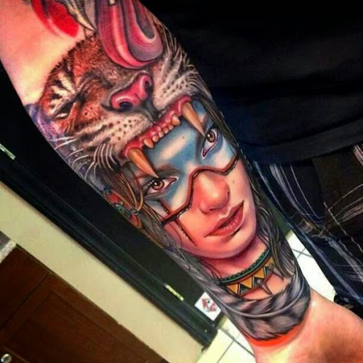 52 cool native american tattoo ideas for Native american woman tattoo