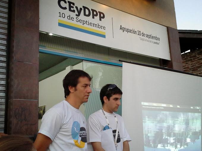 La agrupación 10 de Septiembre inauguró su centro de estudios