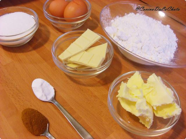 Ingredientes para galletas caseras de Cocina de La Chata