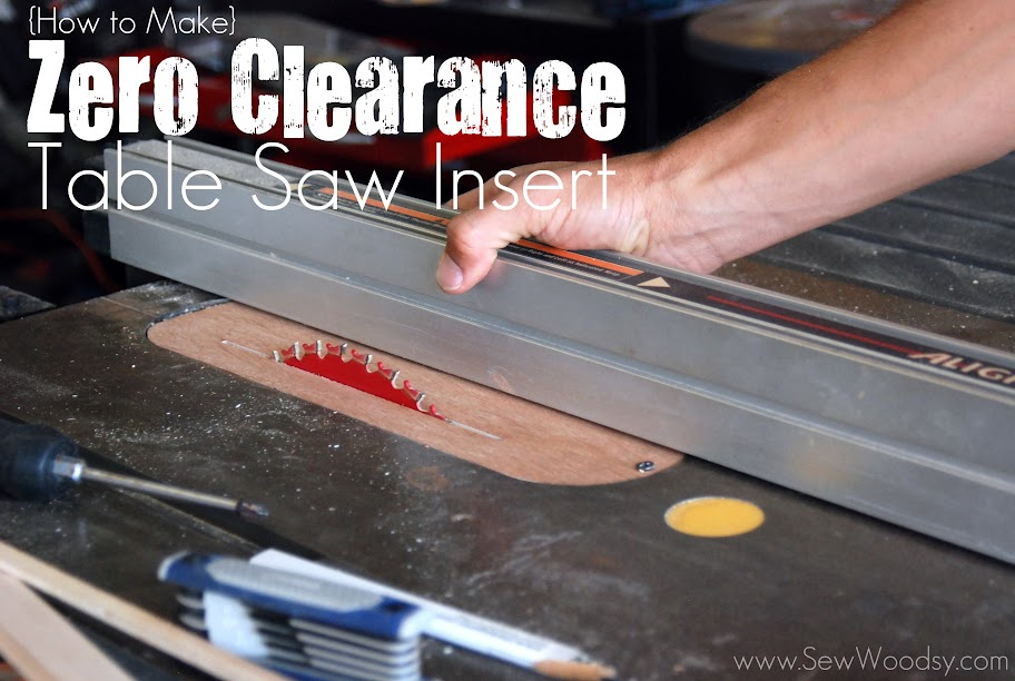 how to make a zero clearance table saw insert