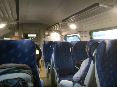 ナポリ行きの列車の中