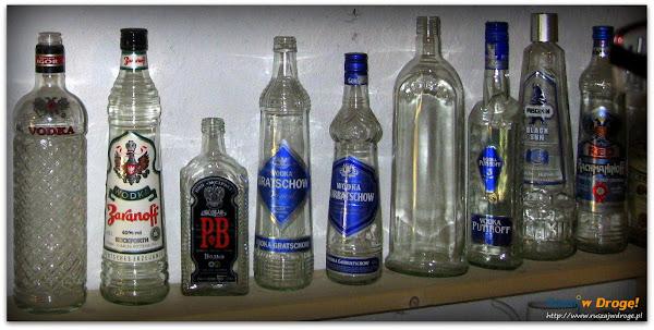 rosyjskie wódki w muzeum pijaństwa w gołębiu