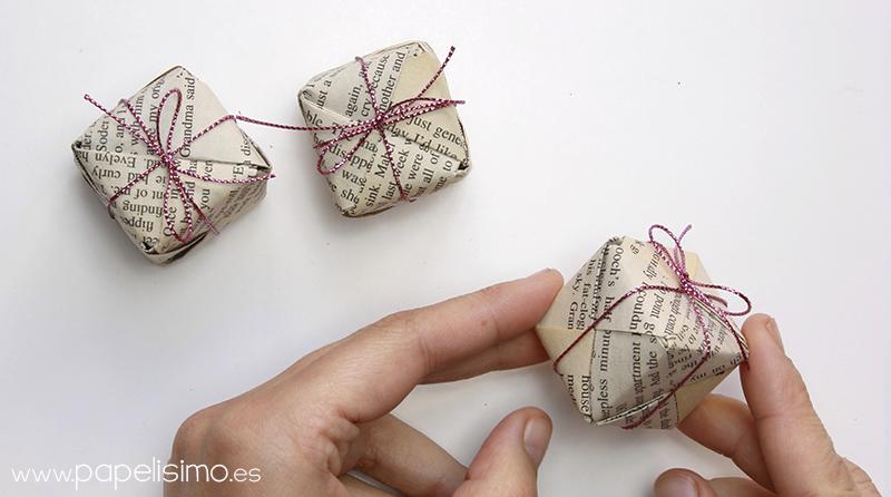 caja de regalo de papel origami