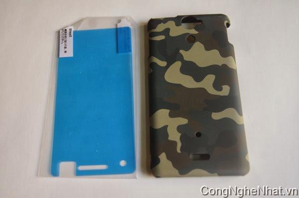 Ốp lưng cho điện thoại nhật Sony Xperia AX (SO-01E) mầu quân đội cực chất