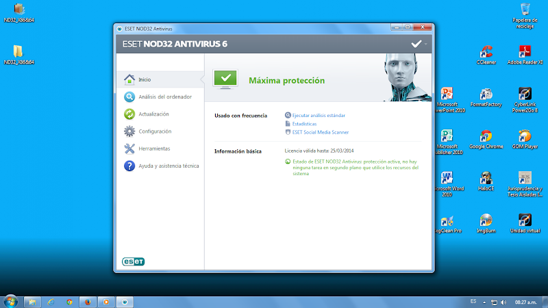 Eset Nod 32 Antivirus 6 [32&64 Bits] + Serial y Crack (Usuarios y