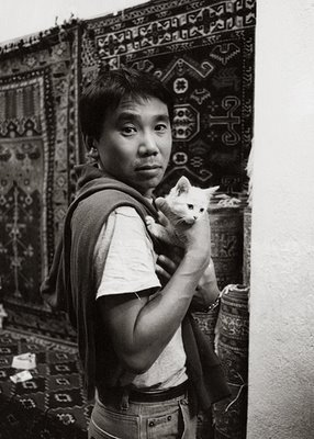 Murakami Haruki and a cat