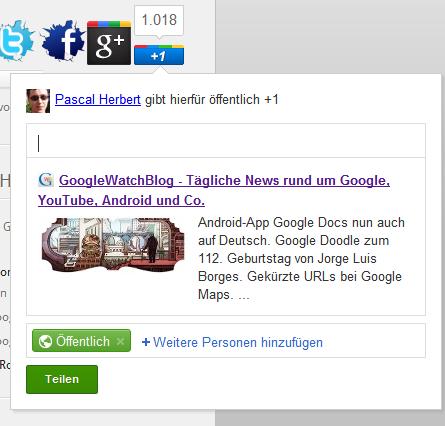 Google+1 teilen