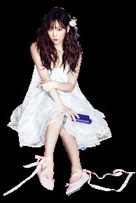 雑誌少女時代テヨンの白いドレス
